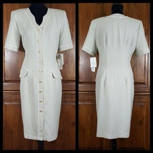 Vintage Julian Taylor Button Front Dress Sz 14